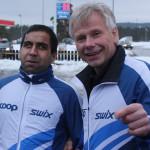 Tahir og Arne Lindsverk dagen før rennet