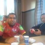 Frokost, sammen med ledsager Alf Henrik