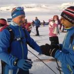 start Finse, ledsager Eivind og Tahir